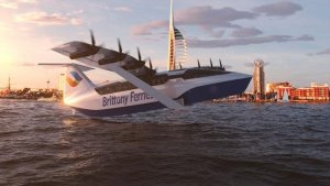 Brittany Ferries unveils electric wing-in-ground effect 'sea glider'